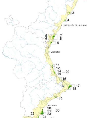 Paisaje litoral de la Comunitat Valenciana 2002