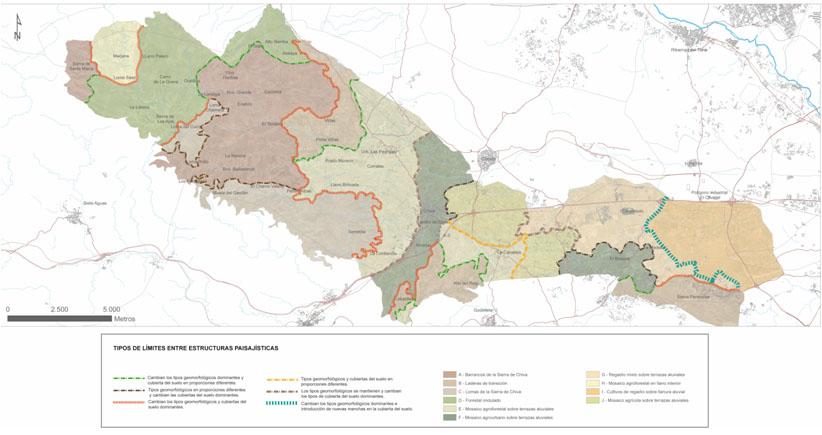 Clasificación jerárquica de unidades de paisaje 2009